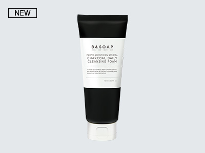 [비앤솝] PEONY SOMETHING SPECIAL CHARCOAL DAILY CLEANSING FOAM